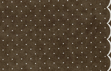 Dot Scallop Border Print Dark Gray