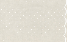 Dot Scallop Border Print Light Gray