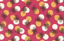 SALE Dots and Cross Hatching Fabric Petunia