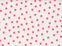 Dots Oilcloth White and Pink