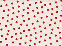 Dots Oilcloth White and Red