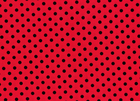 Dumb Dot Polka Dot Black on Cherry Red