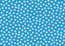 Eat Your Fruit Dots Cotton Blue