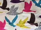 Echino Big Bird Cotton Linen Natural