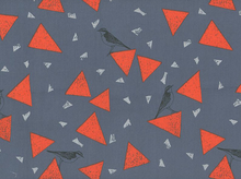 Echino Bird Sateen Grey