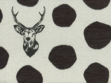 Echino Deer Heavyweight Jacquard Black