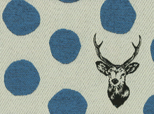 Echino Deer Heavyweight Jacquard Blue
