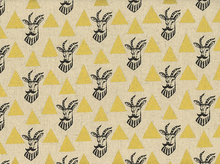 Echino Metallic Hipster Gazelle Cotton Linen Gold