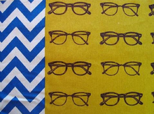 Echino Ni-Co Glasses Cotton Linen Mustard