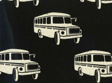 Echino Nico Bus Cotton Linen Black