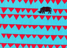 """Echino Rhino Cotton Linen Turquoise  <br><FONT COLOR=""""fc7db0"""">Employee Favorite!</FONT>"""