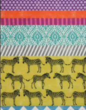 Echino Zebra Safari Chevron Fabric Yellow