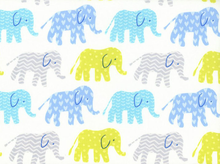 Elephants Organic Cotton in Blue