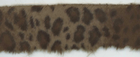Faux Fur Leopard Trim Brown