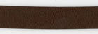 Faux Leather Trim Brown 3/4""