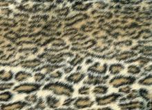Faux Ocelot Fur Shag Brown Black