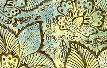 Fern Batik Fabric from Timeless Treasures Green