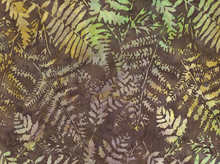 Fern Brush Batik Brown