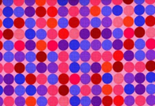 Festival of Dots Cotton Fabric Pink