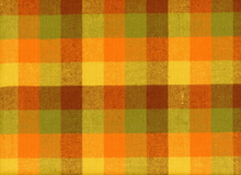Flannel Primo Plaid Check Orange Cotton
