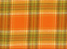 Flannel Primo Plaid Orange Cotton