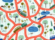 Flannel Scenic Road Trip Cotton Orange