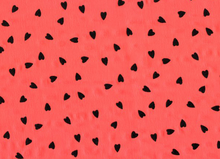 Flocked Heart Chiffon Red