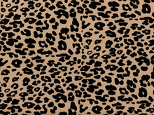 Flocked Velvet Cheetah Double Knit Tan and Black