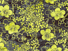Floral Batik Cotton Key Lime