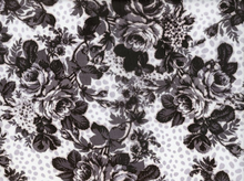 Floral Chiffon Black and White