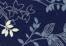 Floral Garden Jacquard Upholstery Fabric Blue