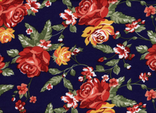 "Floral Ponte Navy and Red  <br><FONT COLOR=""fc7db0"">Employee Favorite!</FONT>"