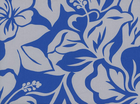 Floral Silhouette Cotton Royal and Silver