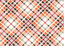 Denyse Schmidt Florence Multi Plaid Cotton Carnelian