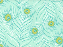 Flower Garden Feathers Voile Teal