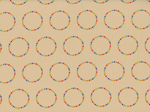 Flying Colors Rainbow Circles Cotton Natural
