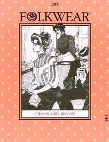 1900'S Gibson Girl Blouse Pattern 77