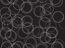 Four Corners Circles Cotton Black
