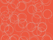 Four Corners Circles Cotton Coral