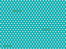 Four Corners Triangles Cotton Teal