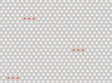 Four Corners Triangles Gray