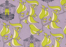 Free Spirit Havens Edge Cotton Fabric Birdcage Quiet in Lilac by Tina Givens