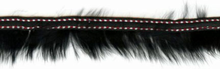 Fur Trim With Stitching Black