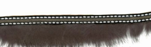 Fur Trim With Stitching Grey