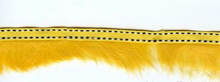 Fur Trim With Stitching Yellow