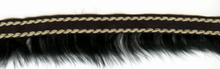 Fur Trim With Twist Stitch Black
