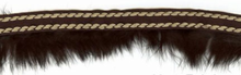 Fur Trim With Twist Stitch Brown