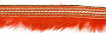 Fur Trim With Twist Stitch Orange