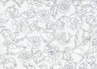 Genevieve's Garden Birds Cotton White