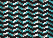 Geometric Chevron Jersey Knit Teal
